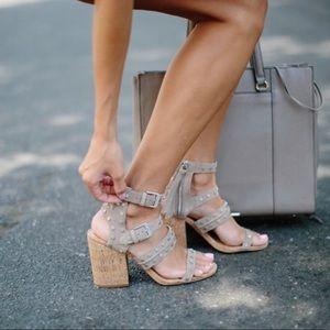 Dolce Vita Cork Heel Effie Sandals SZ 10
